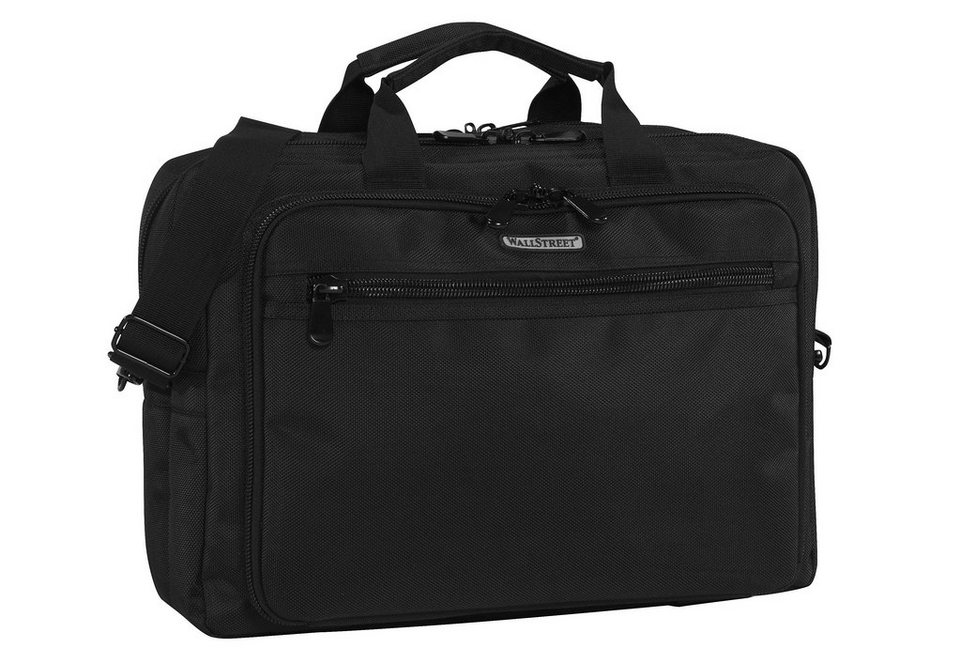 Aktentasche mit Laptopfach bis 15,6-Zoll, »Wallstreet Business Bag« in schwarz