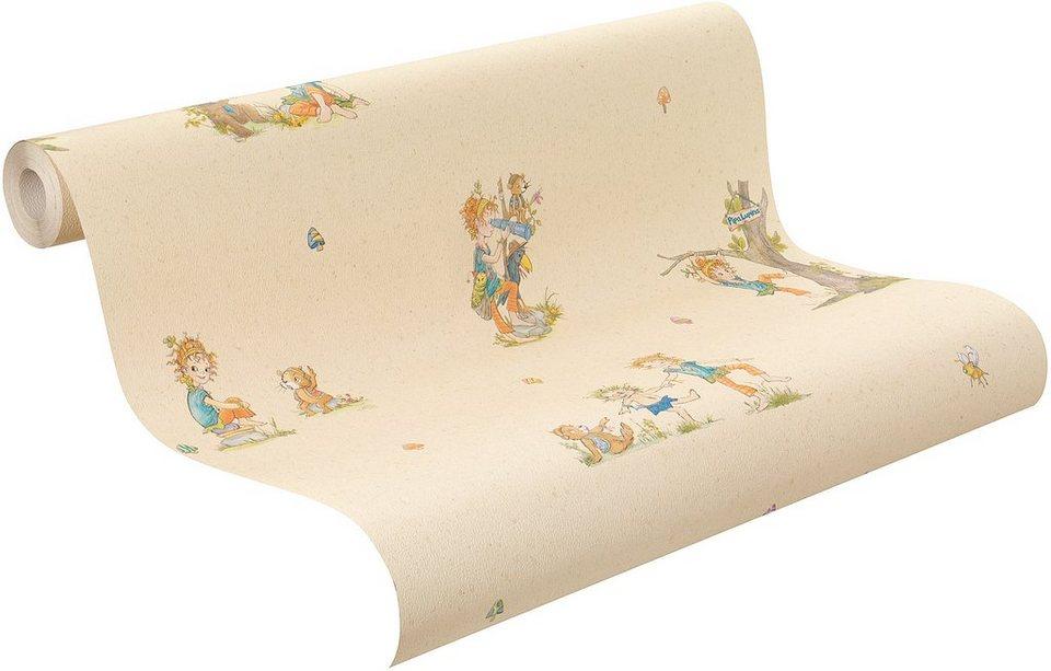 Papiertapete, Rasch, »Pina Lupina Muster« in beige-multi