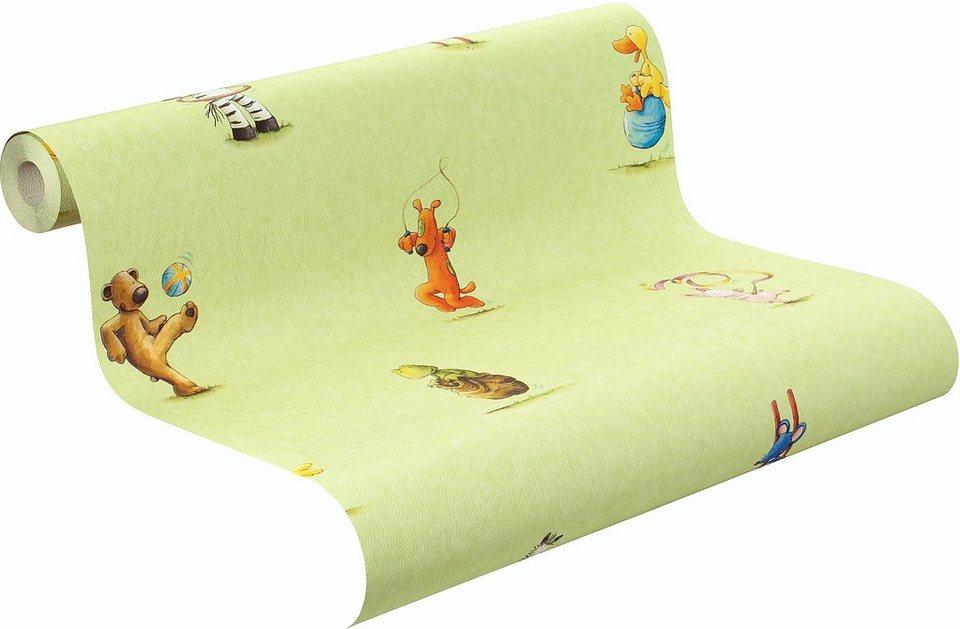 Papiertapete, Rasch, »Die Lieben Sieben, Muster« in grün-multi