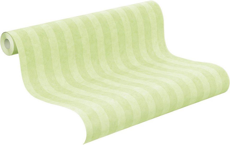Papiertapete, Rasch, »Die Lieben Sieben Streifen« in grün