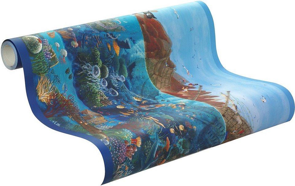 Bordüre, Rasch, »Capt´n Sharky, Borte Unter Wasser« in mehrfarbig