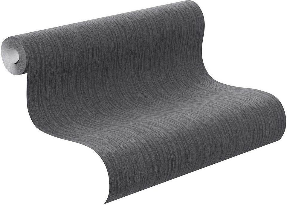 Vliestapete, Rasch, »Factory Schiefer« in schwarz, grau