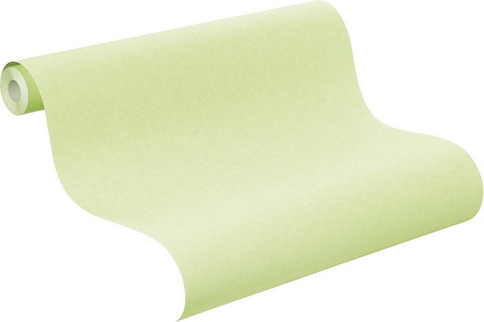 Papiertapete, Rasch, »Die Lieben Sieben, Uni« in grün