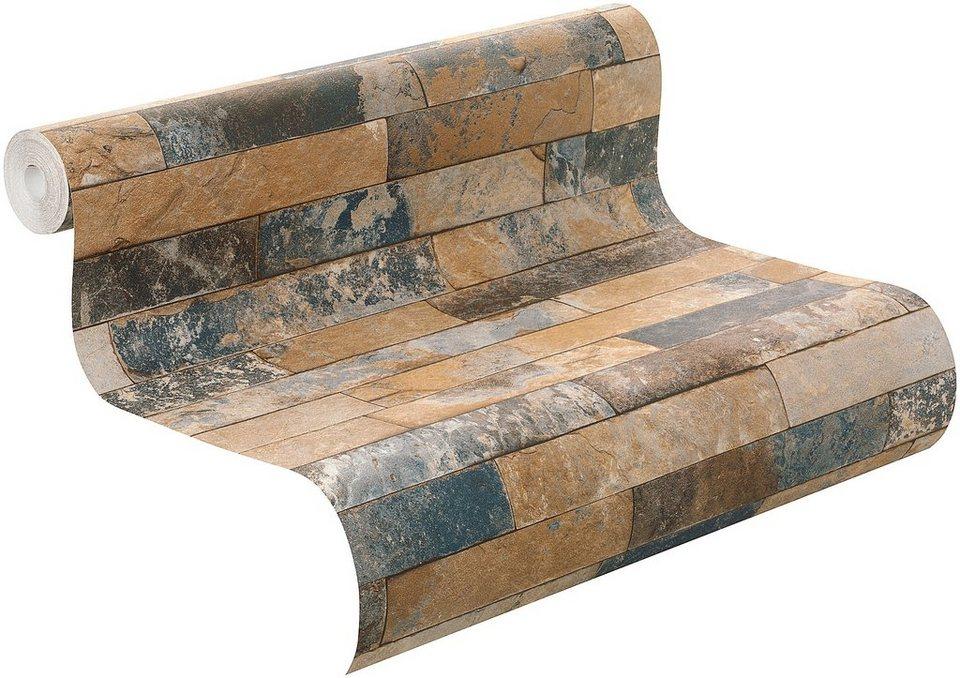 vliestapete rasch factory steinmauer kaufen otto. Black Bedroom Furniture Sets. Home Design Ideas