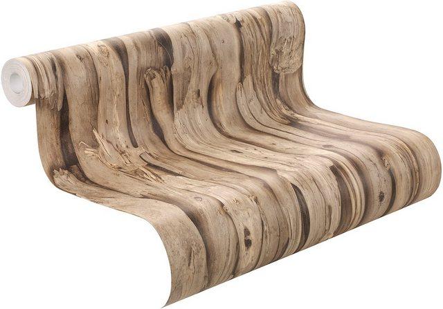 Rasch Vliestapete, African Queen, Holz, braun