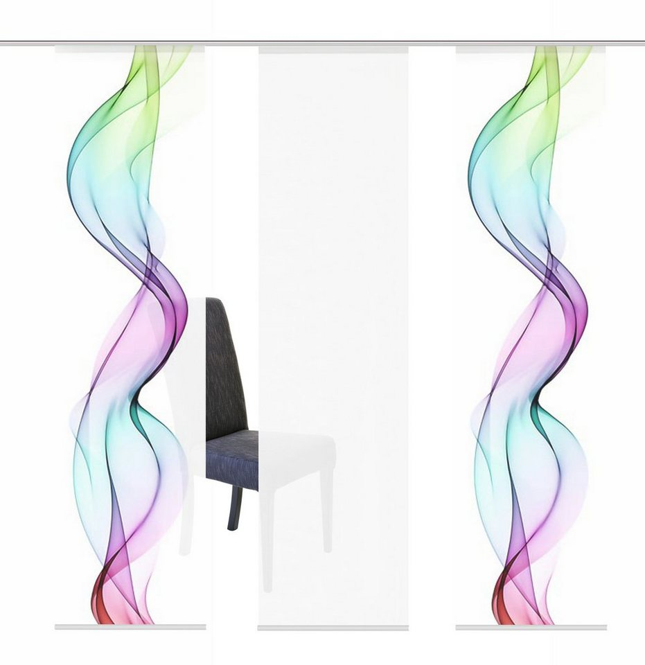 Schiebegardine, Home Wohnideen, »ALBERTA«, Mehrfachsets (mit Zubehör) in multicolor