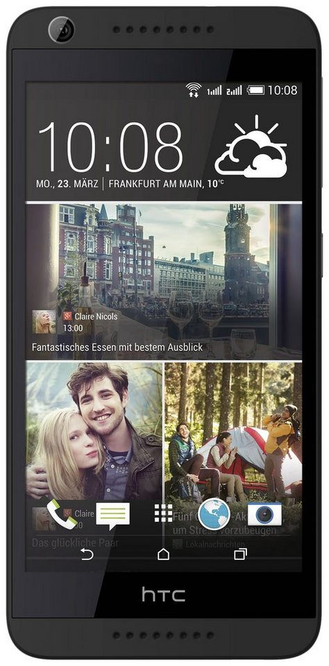 HTC Desire 626G Dual Smartphone, 12,7 cm (5 Zoll) Display, Android 4.4, 13,0 Megapixel in grau