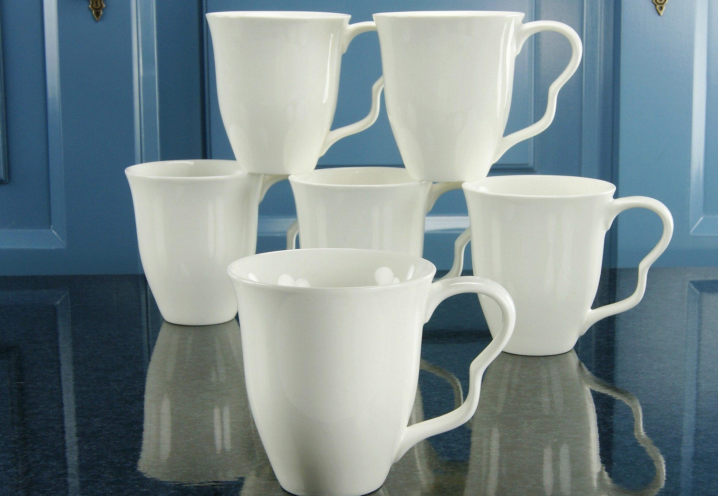Kaffeebecher, Porzellan, »EVA« (6 Stck.)