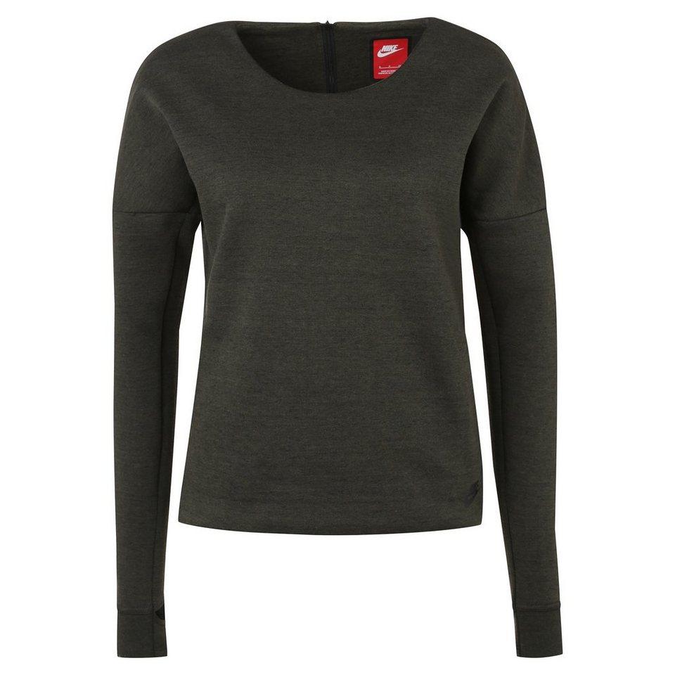 Nike Sportswear Tech Fleece Crew Sweatshirt Damen in khaki