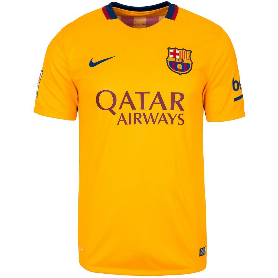 NIKE FC Barcelona Trikot Away Stadium 2015/2016 Herren in gelb / dunkelblau