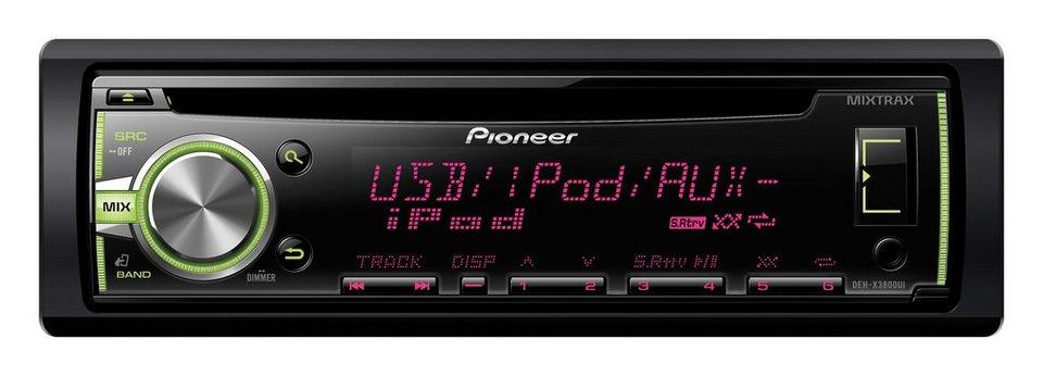 PIONEER 1-DIN CD-Autoradio mit RDS »DEH-X3800UI« in schwarz