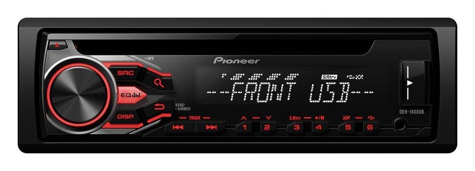 PIONEER 1-DIN Autoradio »DEH-1800UB« in schwarz