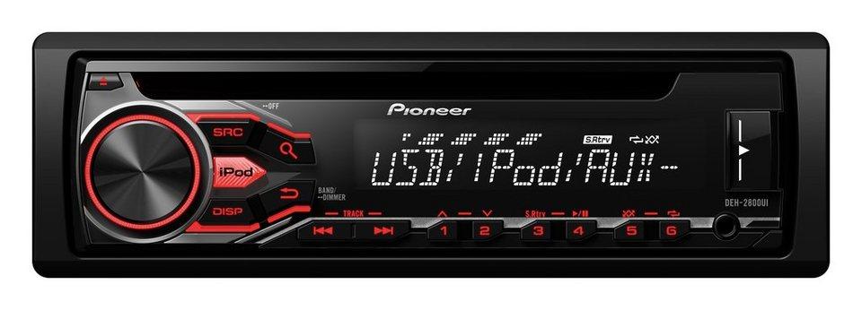 PIONEER 1-DIN Autoradio »DEH-2800UI« in schwarz