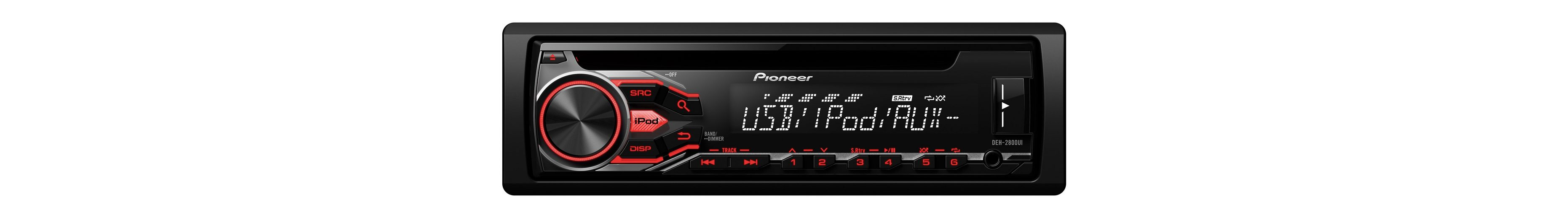 PIONEER 1-DIN Autoradio »DEH-2800UI«