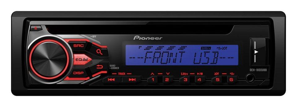 PIONEER 1-DIN Autoradio »DEH-1800UBB« in schwarz