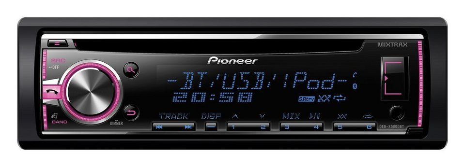 pioneer 1 din cd autoradio mit bluetooth deh x5800bt. Black Bedroom Furniture Sets. Home Design Ideas