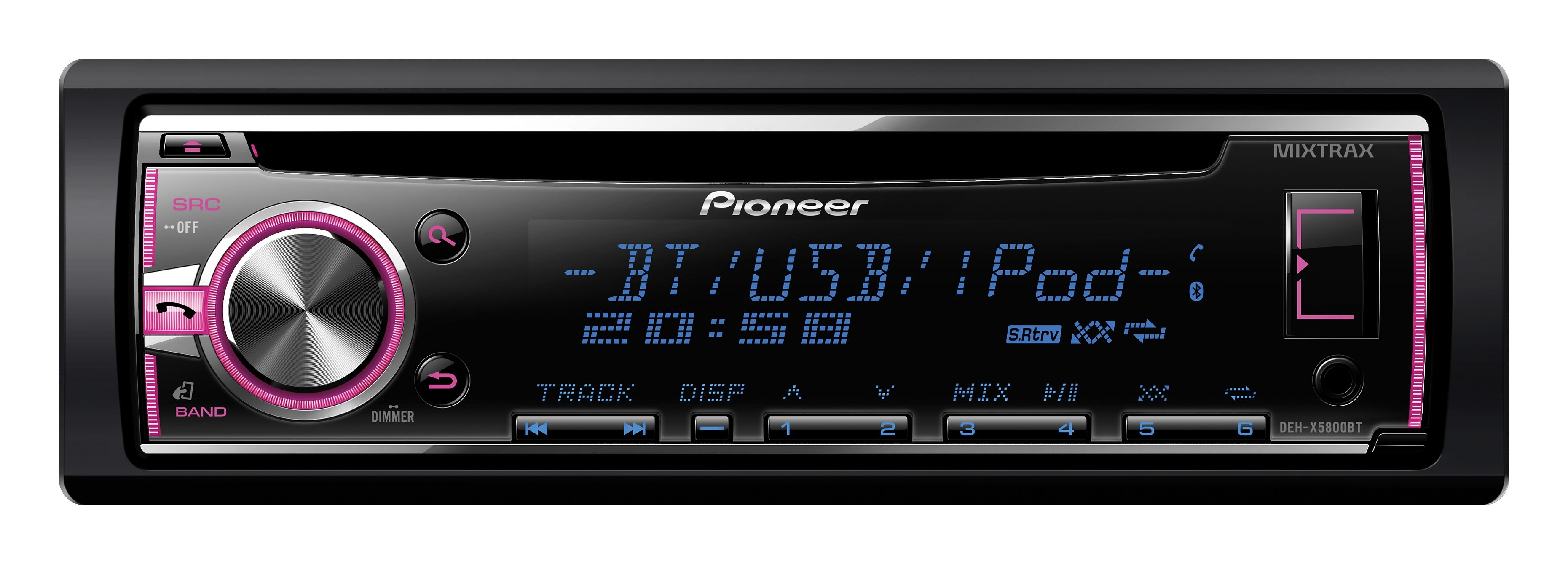 PIONEER 1-DIN CD-Autoradio mit Bluetooth »DEH-X5800BT«