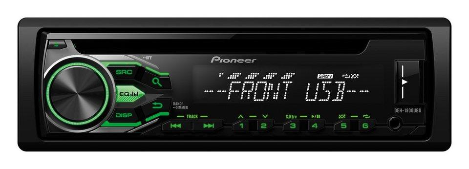 PIONEER 1-DIN Autoradio »DEH-1800UBG« in schwarz