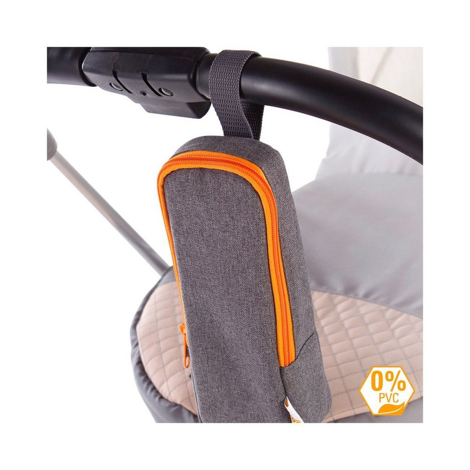 DIAGO Deluxe Isoliertasche für Kinderwagen, Buggy in orange