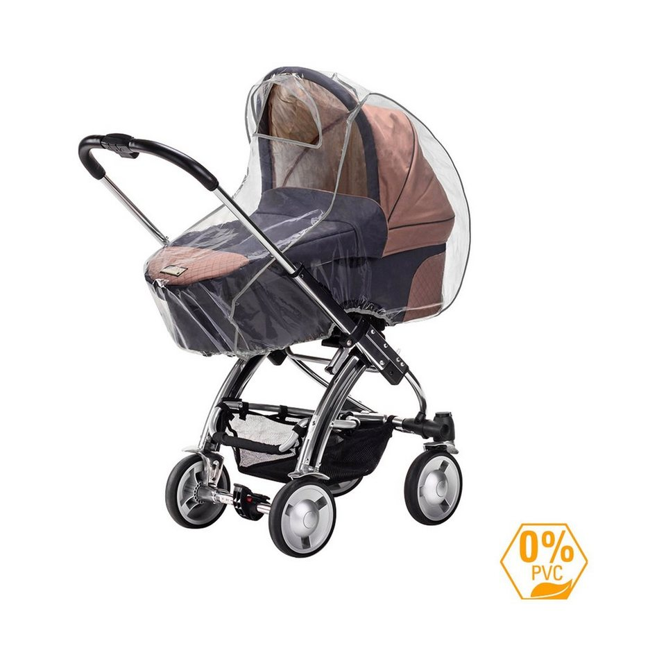 DIAGO Regenschutz Kinderwagen in transparent