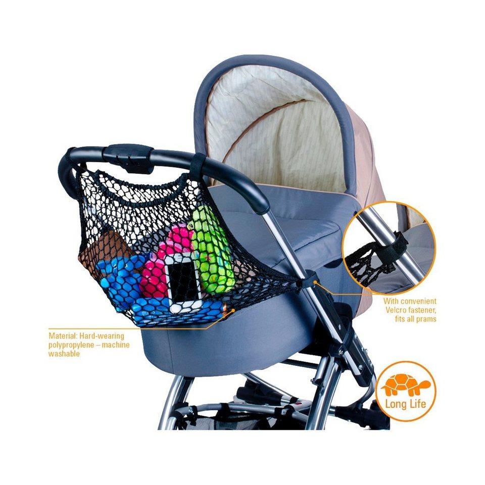 DIAGO Einkaufsnetz für Kinderwagen und Buggy in schwarz