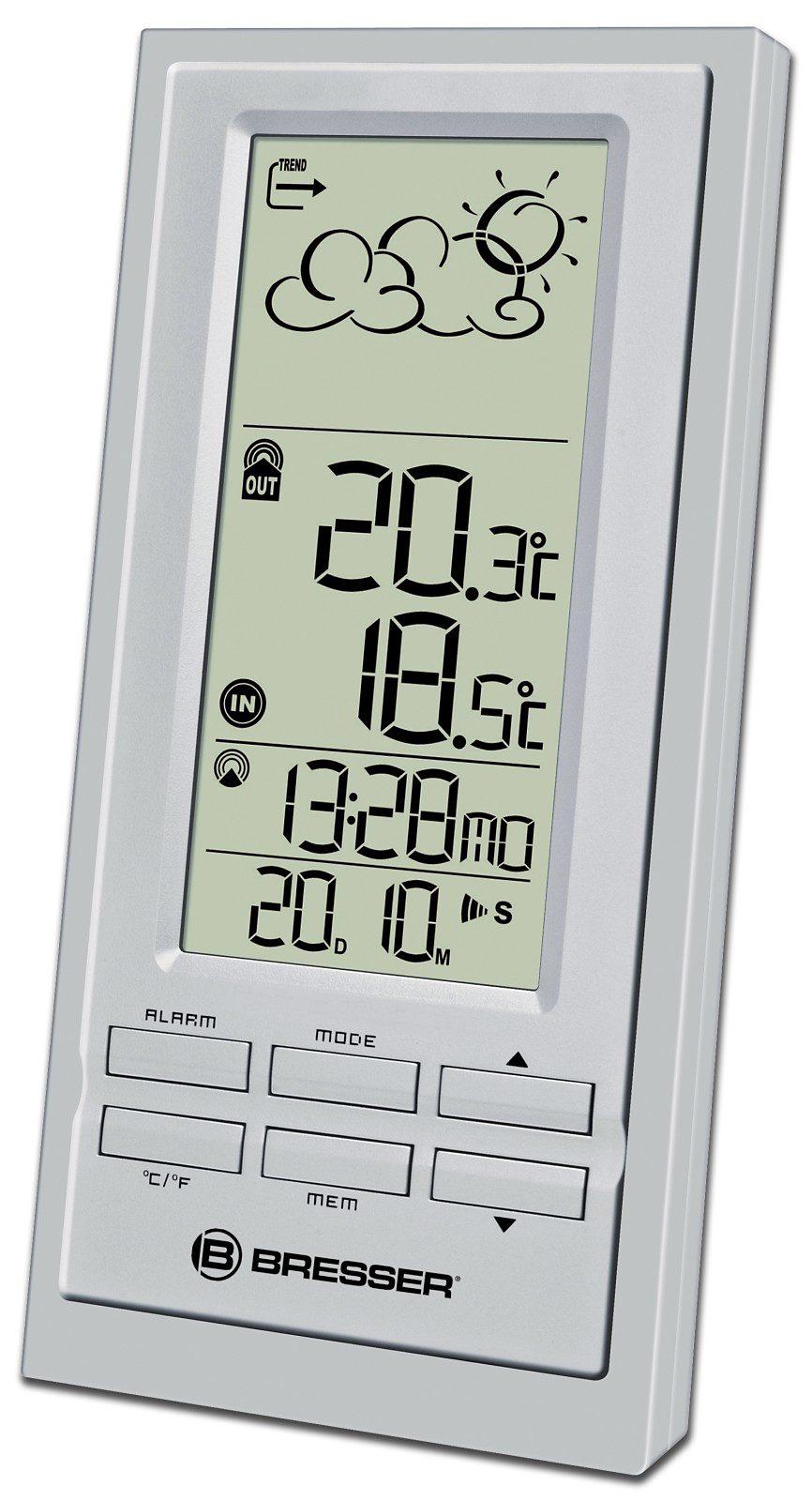 BRESSER Wetterstation »BRESSER NBF-6 Trend Funkwetterstation, silber«