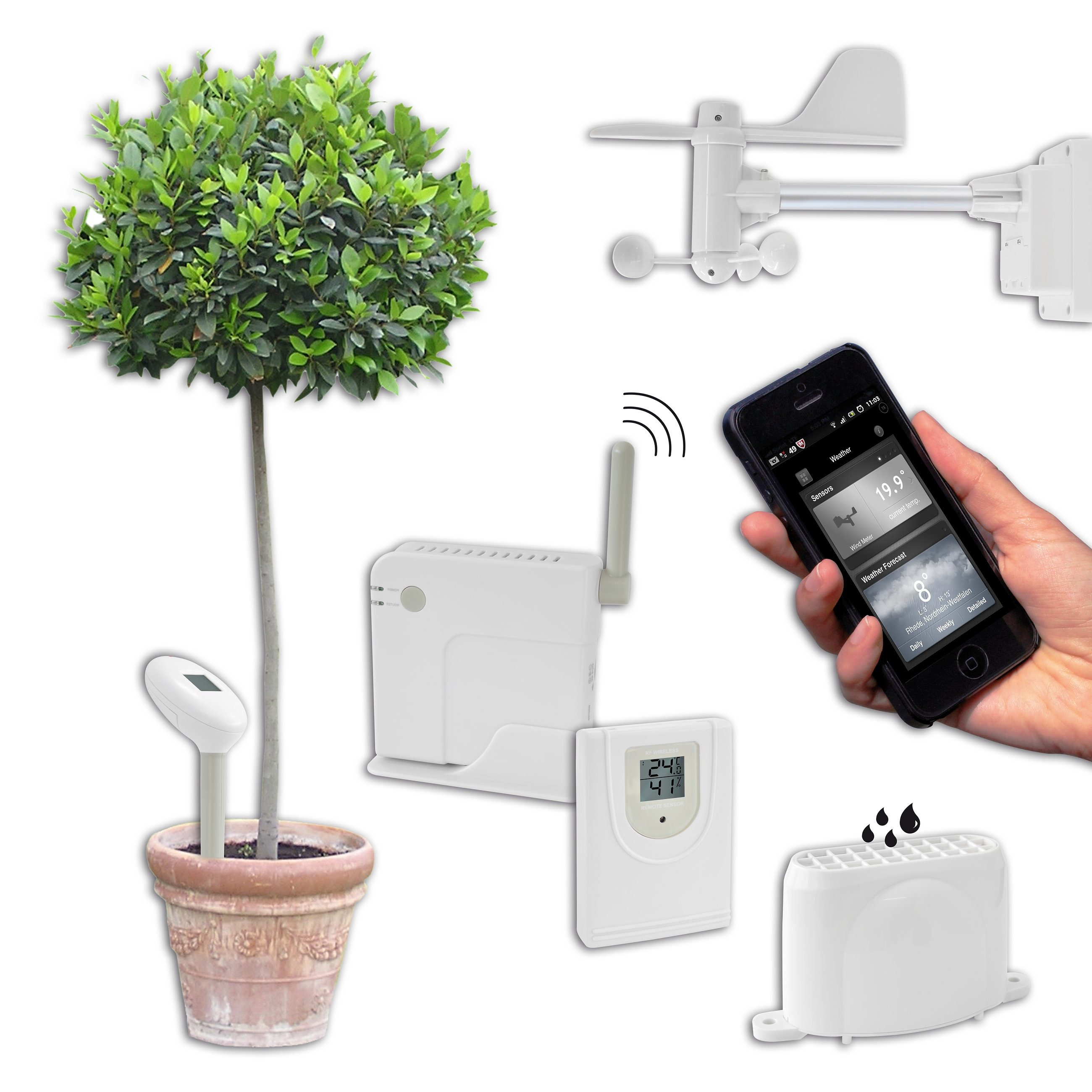 BRESSER Wetterstation »BRESSER Connect Set Wetterstation, Smart Home«