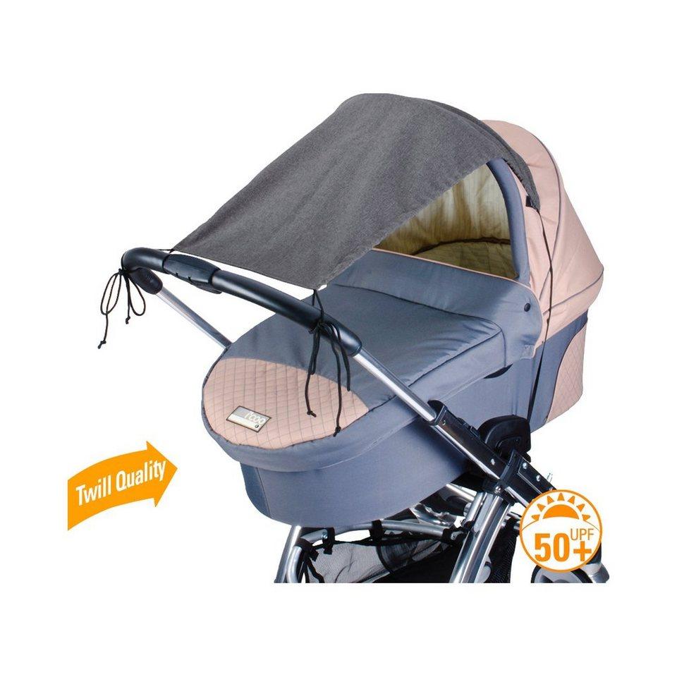 DIAGO Deluxe Sonnensegel mit UV-Schutz 50+ in grau