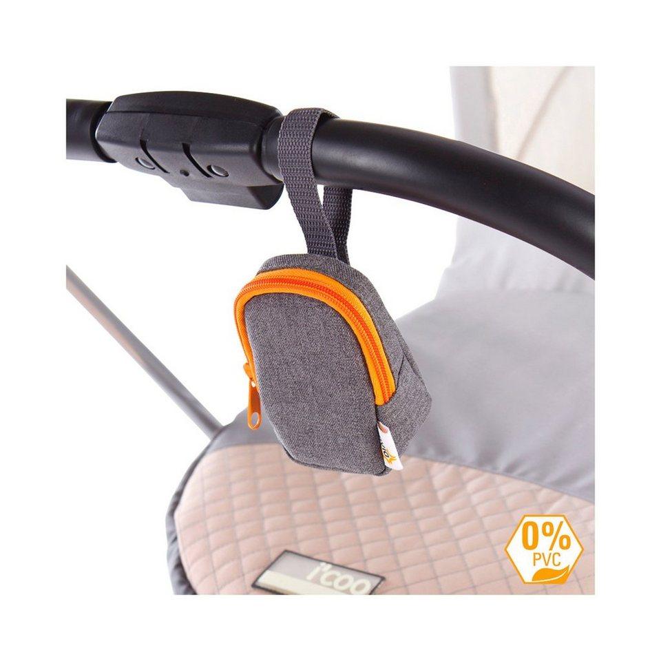 DIAGO Deluxe Schnullertasche für Kinderwagen, Buggy in orange