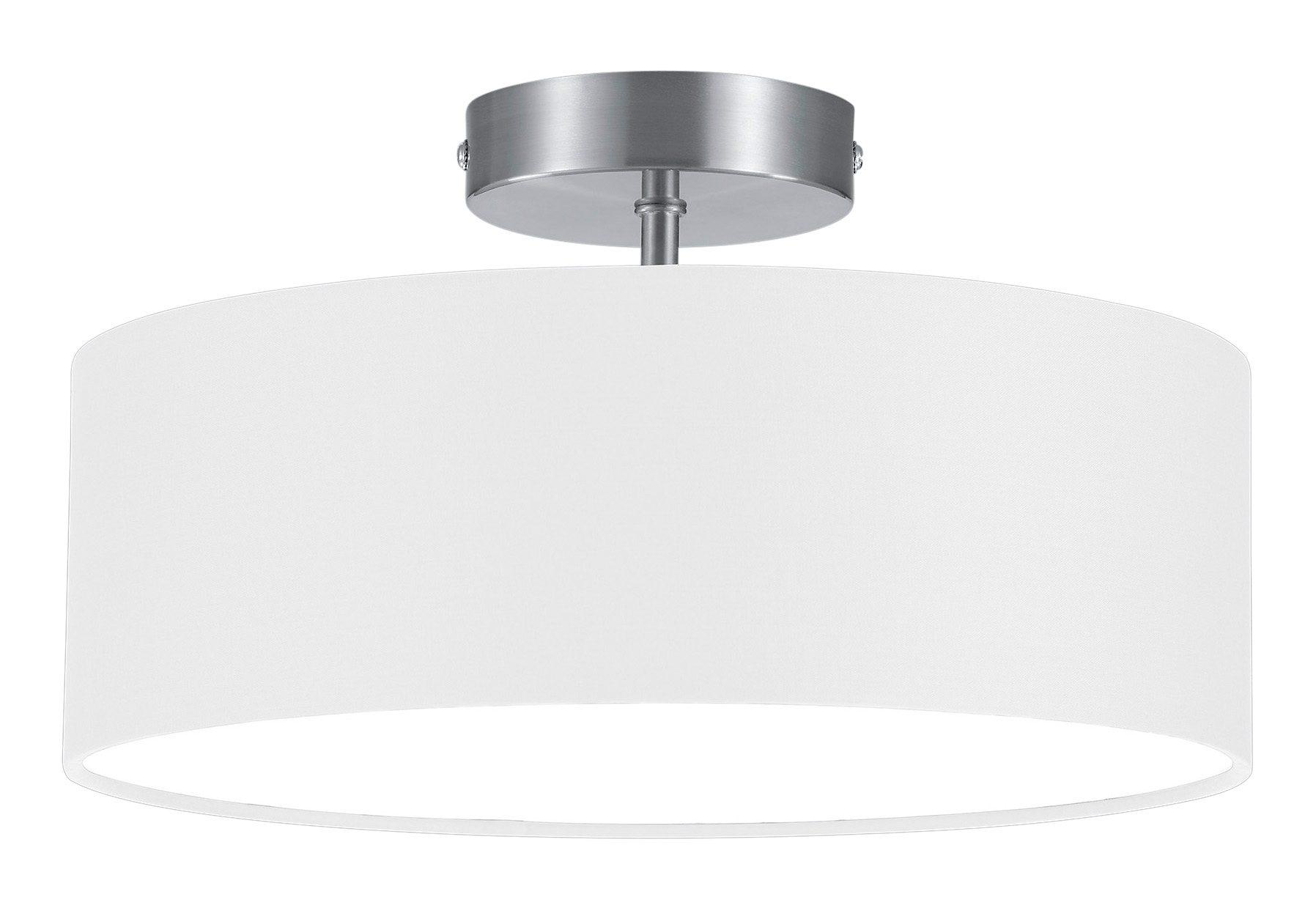 Schlafzimmerlampe Deckenleuchte Stoffschirm Rund Ø30cm schwarz extern dimmbar