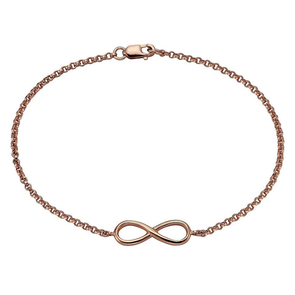 Zeeme Armband »925/- Sterling Silber Infinity« in rot
