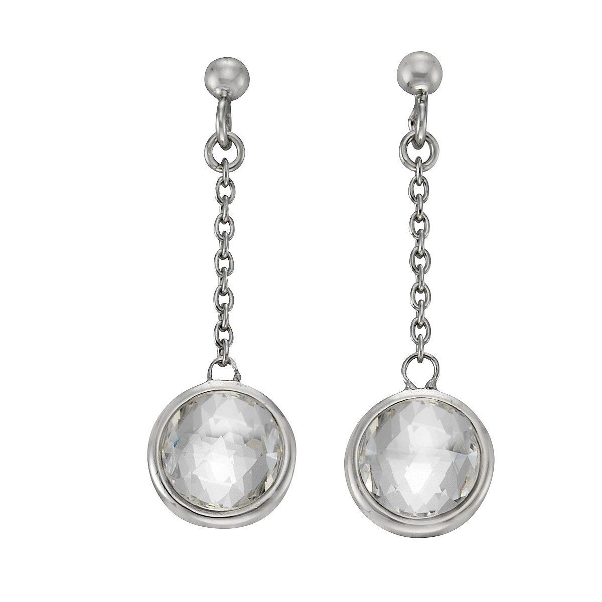 Zeeme Ohrhänger »925/- Sterling Silber Swarovski Kirstalle«