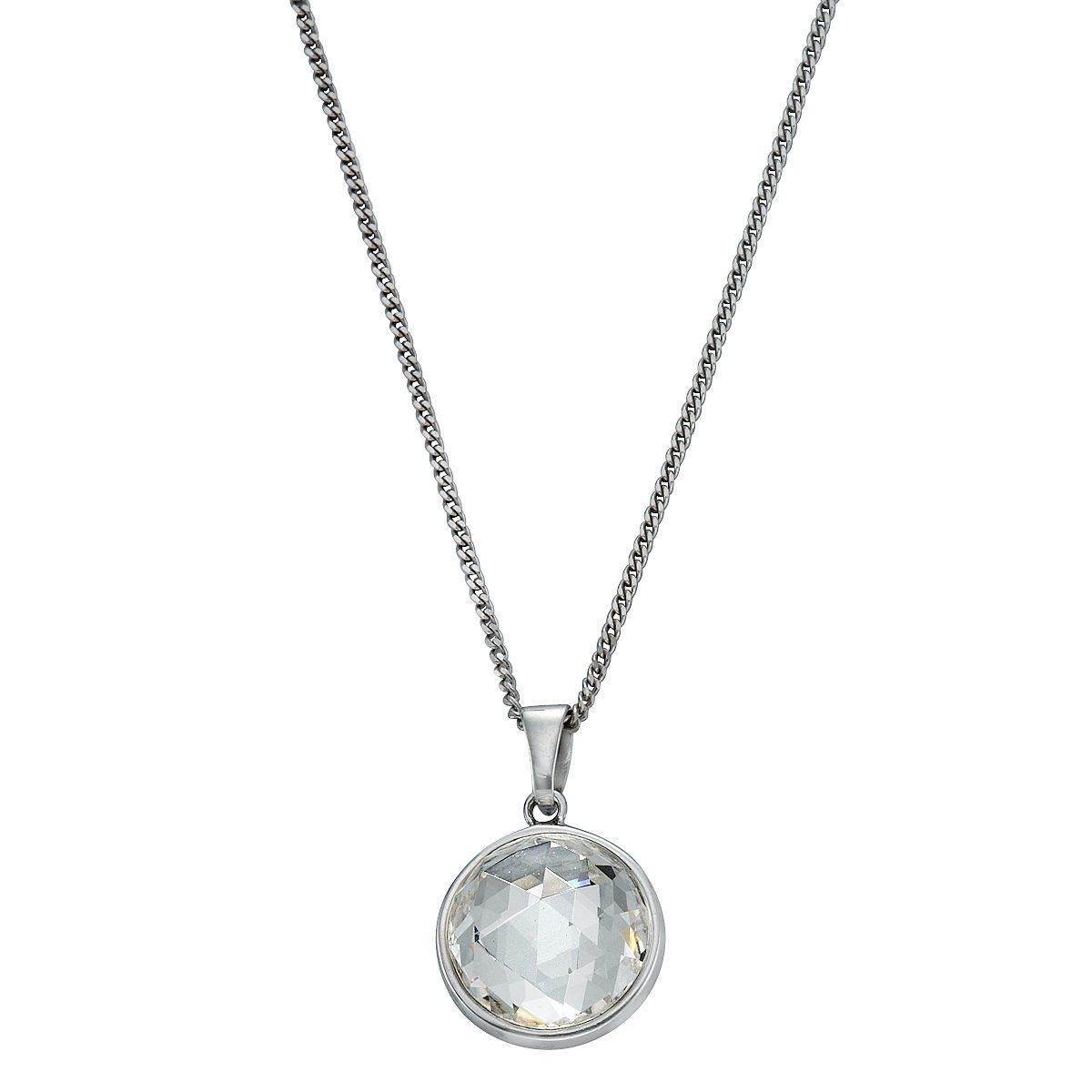 Zeeme Anhänger mit Kette »925/- Silber Swarovski Kristalle«