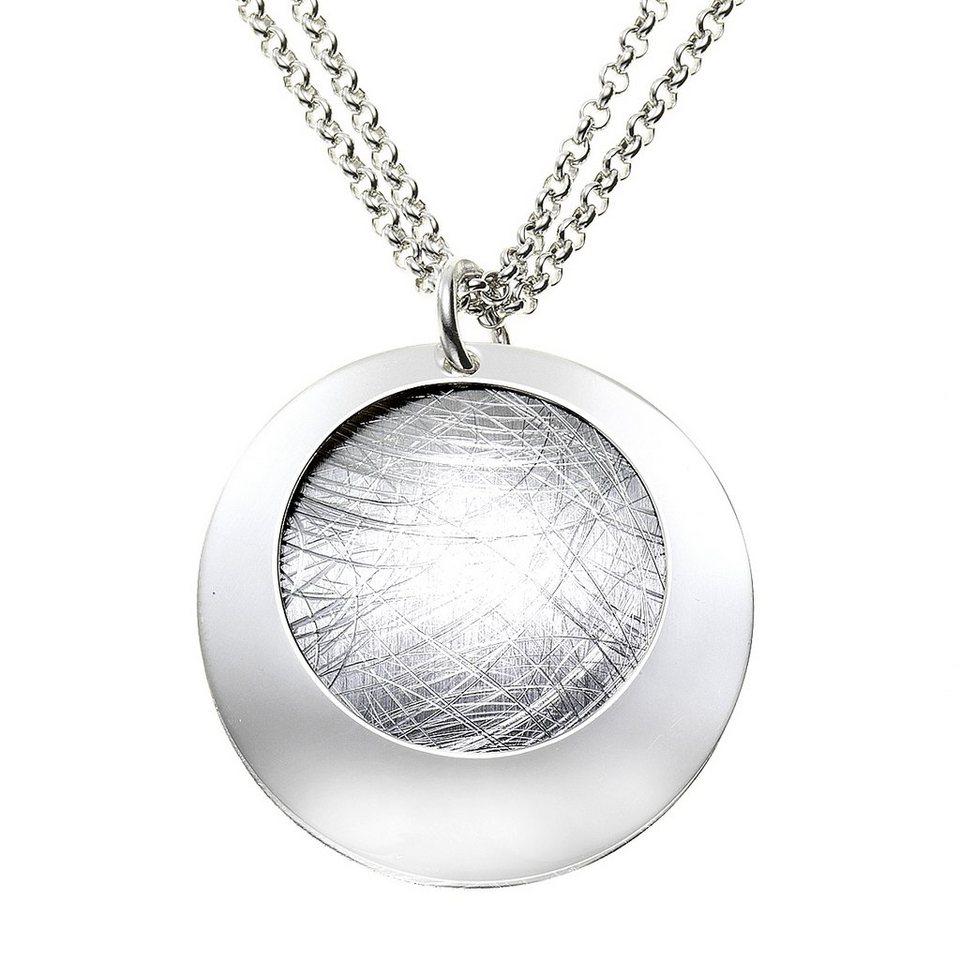 Zeeme Anhänger mit Kette »925/- Sterling Silber zweiteilig« in weiß