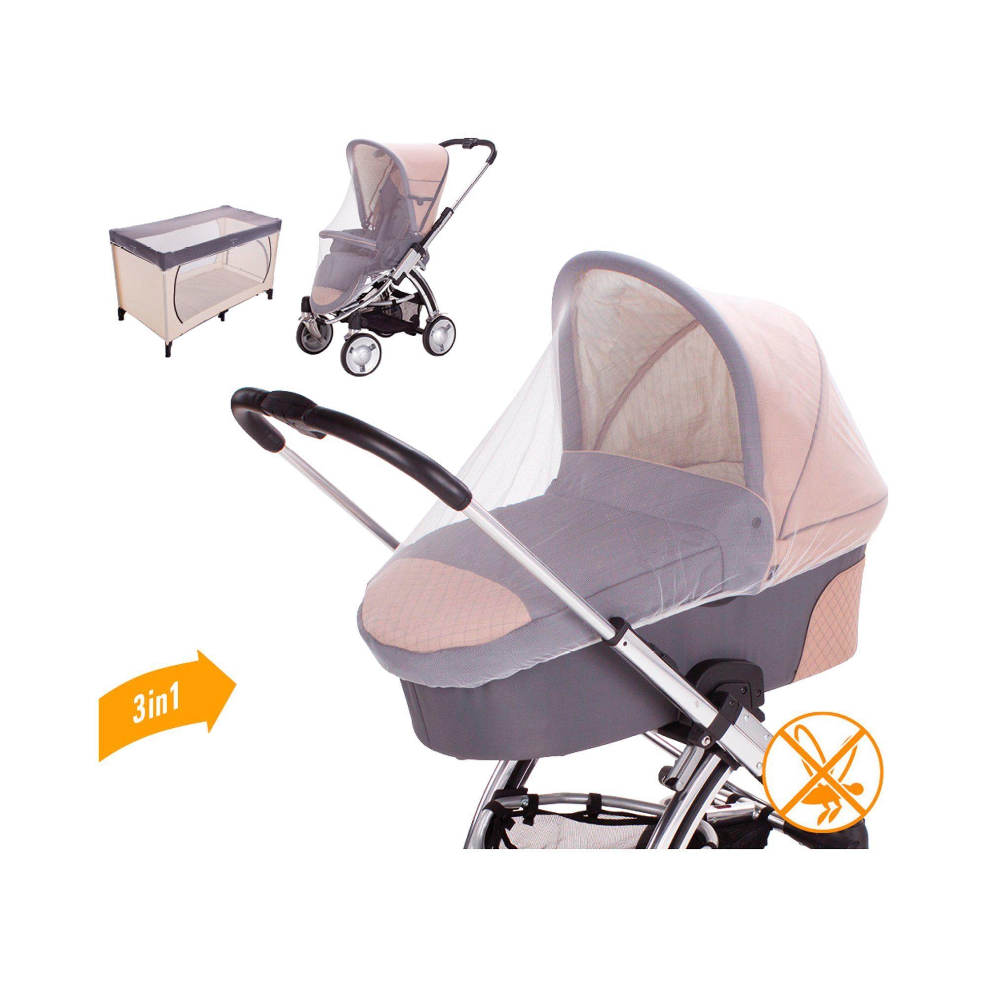 DIAGO Universal Insektenschutz für Kinderwagen, Buggy und Reisebetten