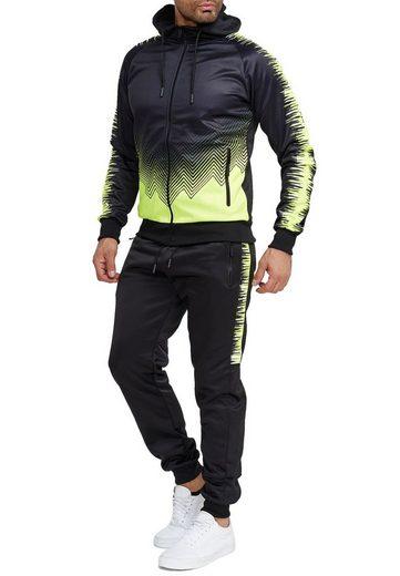 Egomaxx Trainingsanzug »3590«, Herren Slim Fit Trainingsanzug Casual Basic Streetwear Sportanzug