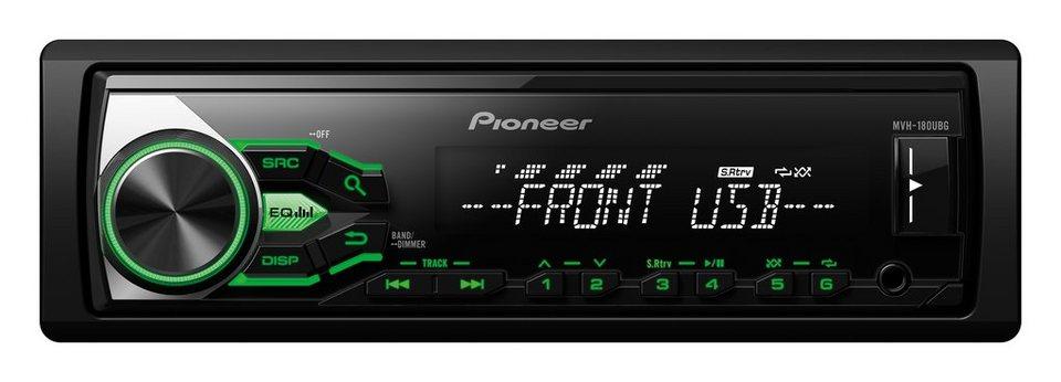 PIONEER 1-DIN Autoradio mit RDS »MVH-180UBG« in schwarz