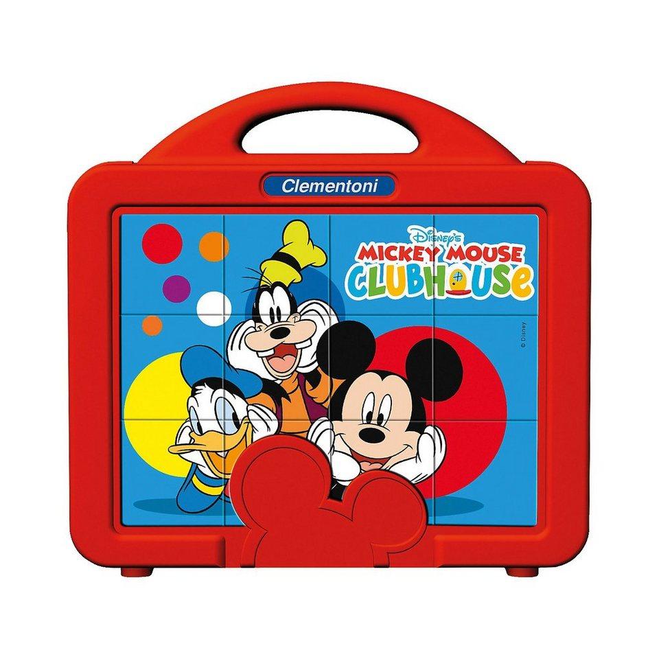 Clementoni Würfelpuzzle 12 Teile - Mickey Mouse