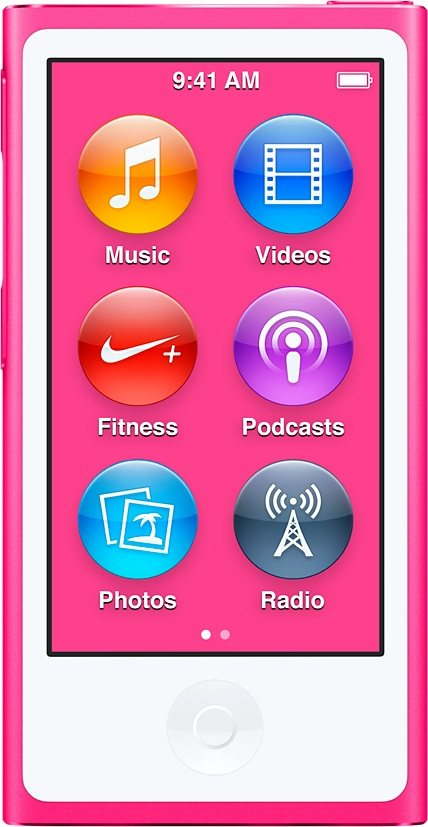 "Apple iPod nano 2,5"" 16 GB in Pink"
