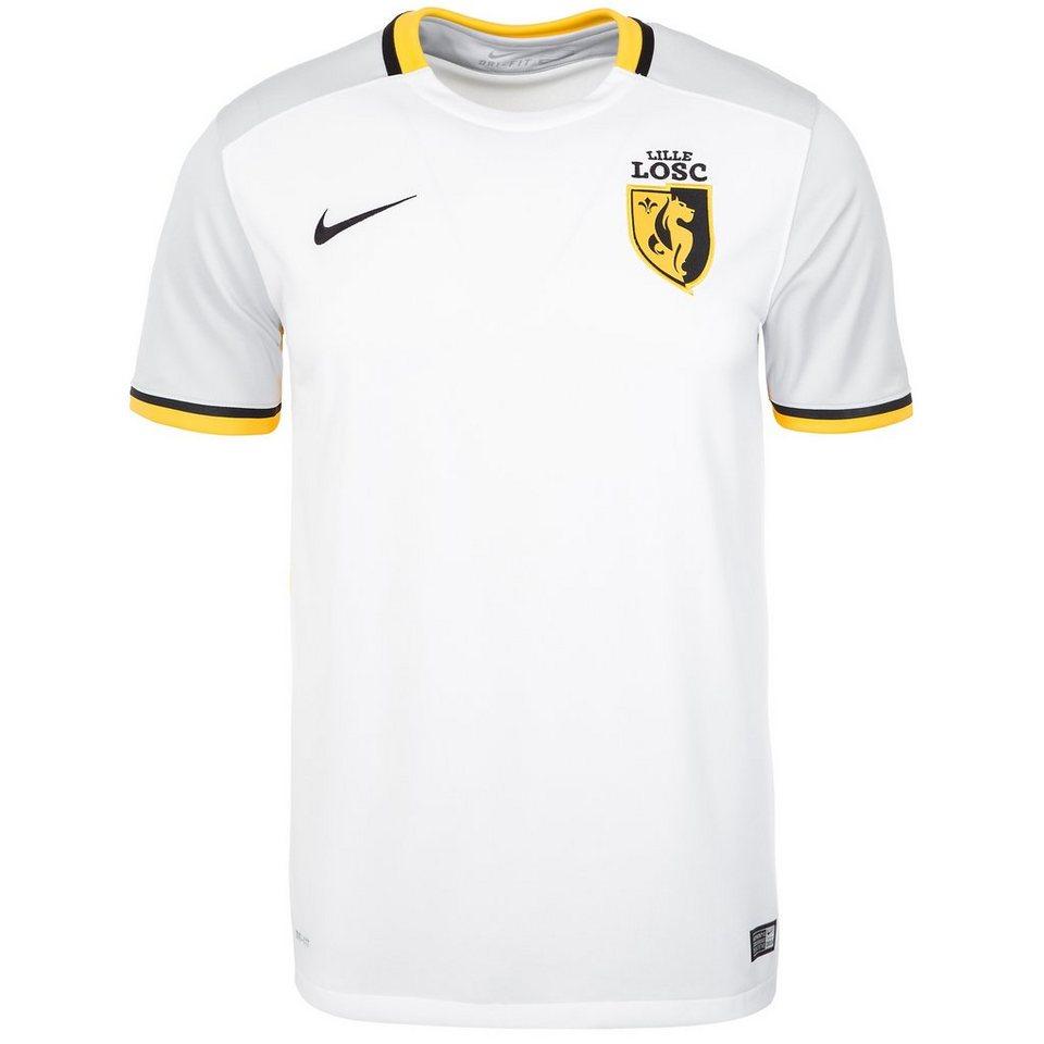 NIKE OSC Lille Trikot Away Stadium 2015/2016 Herren in weiß / gelb