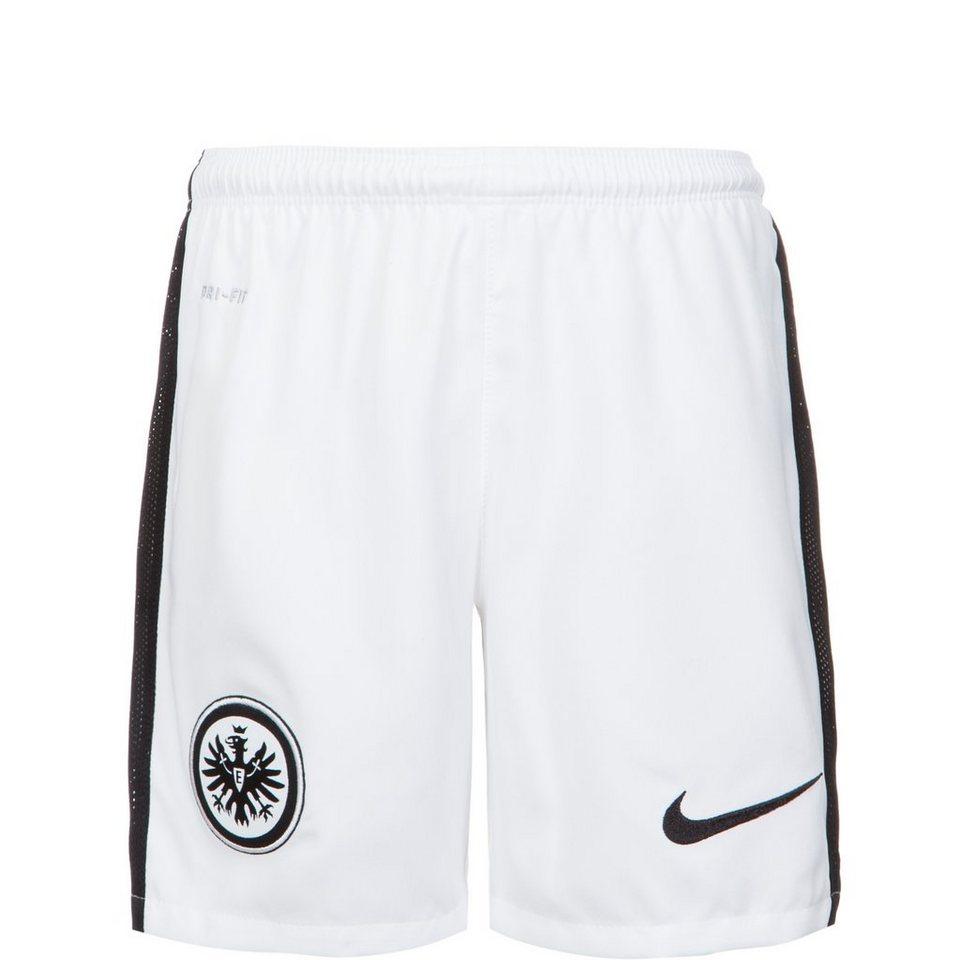 NIKE Eintracht Frankfurt Short Away Stadium 2015/2016 Kinder in weiß / schwarz