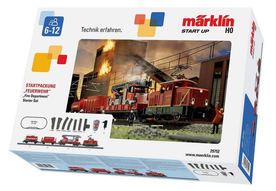 Märklin Eisenbahn Starterset, H0, »Märklin Start up - Startpackung Feuerwehr 230 Volt - 29752« in rot