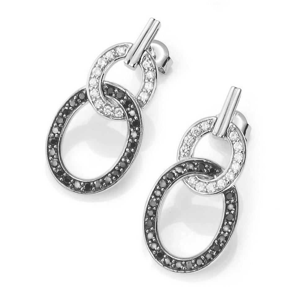 CELESTA Ohrhänger »925/- Sterling Silber« in weiß