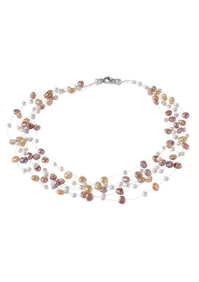 Adriana Perlenkette, »La mia perla R3« in bunt/Silber 925