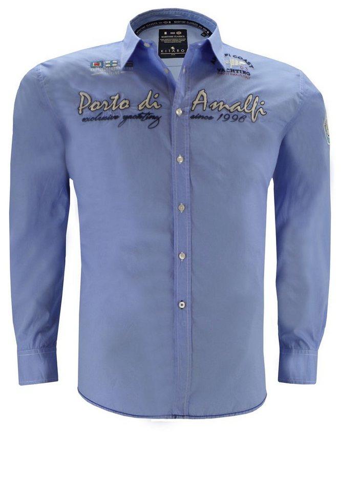 kitaro Freizeithemd in Blau