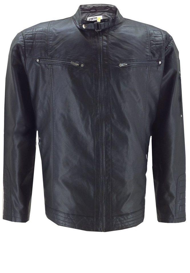 replika Biker Jacke in Schwarz