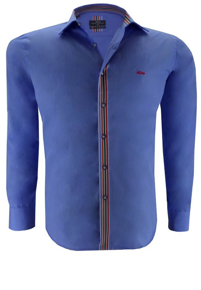 dario beltran Businesshemd in Blau