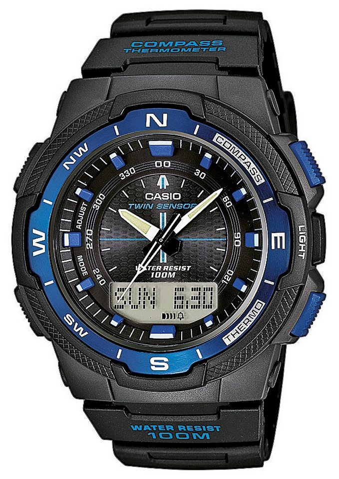 "Casio Collection, Chronograph, ""SGW-500H-2BVER"" in schwarz"