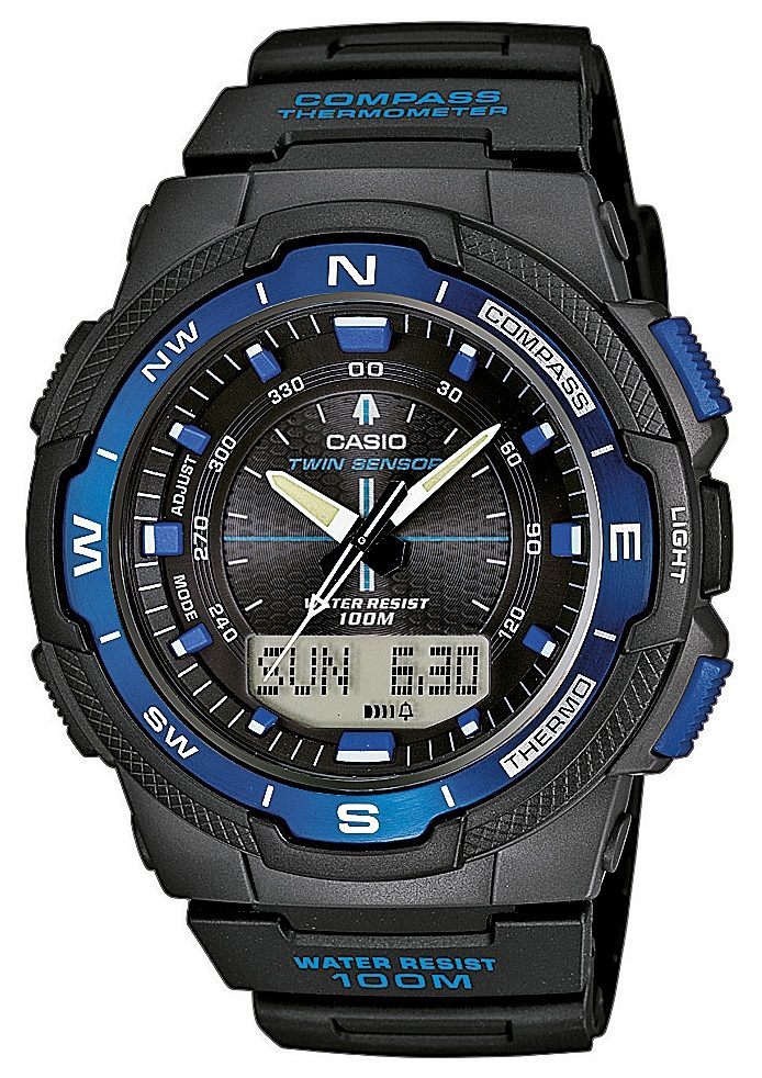 "Casio Collection, Chronograph, ""SGW-500H-2BVER"""