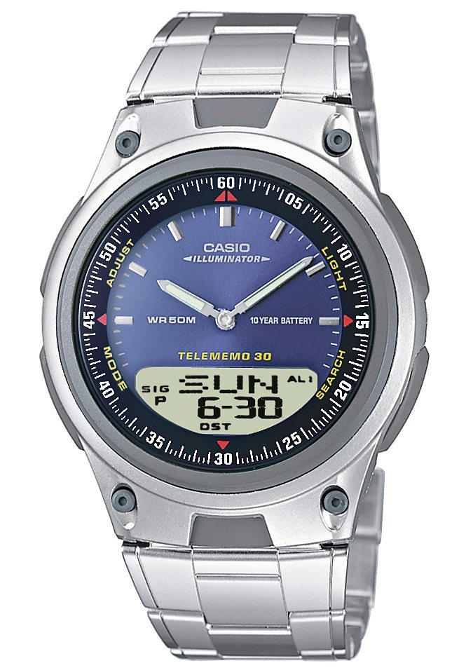Casio Collection Chronograph »AW-80D-2AVES« in silberfarben